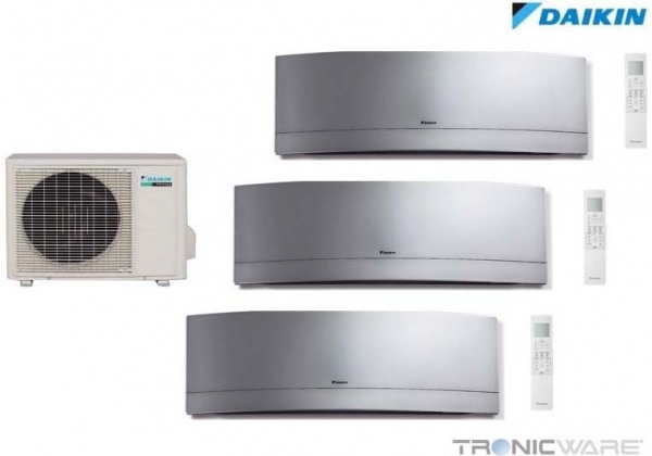 daikin inverter multi klimaanlage 3mxs52e 2 x ftxg25l 1 x ftxg35l silver. Black Bedroom Furniture Sets. Home Design Ideas
